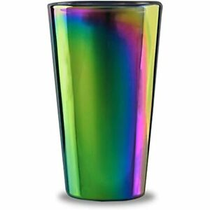 76871 Rainbow Fusion Set Of 4-16.9 Oz Heavy Base Highball Drinking Glasses, For