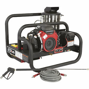 NorthStar Gas Hot Water Commercial Pressure Washer Skid 4K PSI Honda Eng CA Only