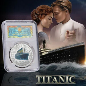 1912 Titanic Ship 100th Anniversary Silver Commemorative Coin Souvenir Gift