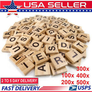 500pcs Wooden Letters Alphabet Scrabble Tiles Letters For Game amp;Crafts US Stock $29.99
