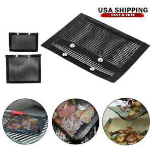 BBQ Non-Stick Mesh Grilling Barbeque Baking Reusable Meat Bag Outdoor Picnic NEW
