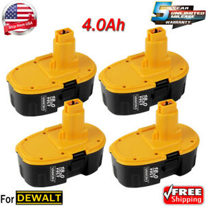 NEW Upgraded for DeWalt 18V 18 Volt XRP Battery DC9096 DC9098 DC9099 DW9095 -4pk