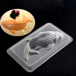 3D Koi Fish Cake Chocolate Mould Jelly Handmade Sugarcraft Mold DIY Kitchen Tool