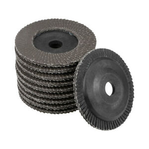 4 Inch Flap Discs 72 Page Grinding Wheels for Angle Grinders 120 Grits 10 Pcs