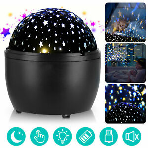 LED Baby Night Light Rotating Star Sky Projector Lamp Children Starry Lighting