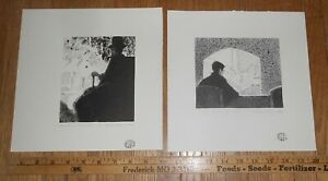 2 Harry E Buckley pencil signed lithographs Theatrical Scene 1980 HE Buckley $8.99