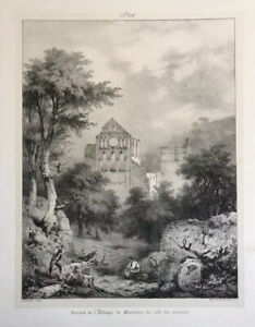 Abbey Of Mortemer France 1824 Lithograph Antique Print Engelmann $35.00