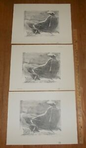 3 Harry E Buckley pencil signed lithographs At the Beach X 1978 $14.99