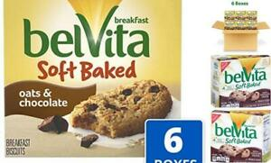 belVita Soft Baked Oats & Chocolate Breakfast Biscuits, 6 Oats & Chocolate