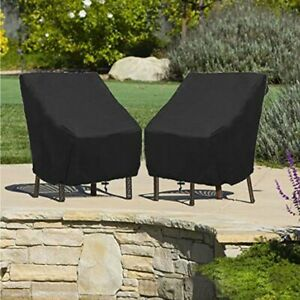 Waterproof High Back Chair Sun Cover Outdoor Patio Garden Furniture Storage Case