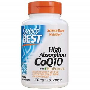 Doctor's Best High Absorption CoQ10 with BioPerine,100 mg 120 Softgels*