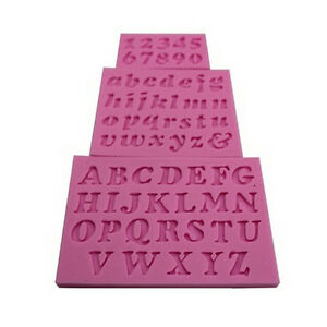 3x Mini Letter Number Silicone Handmade Fondant Cakes Decorating DIY Mold Mou.ft