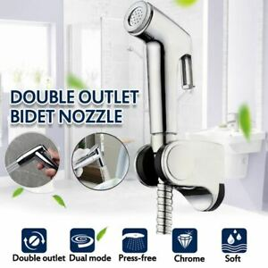 Handheld ABS Bidet Toilet Sprayer Set Shattaf Bathroom Toilet T-Adapter Kit