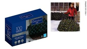 Celebrations 40803-71 Net Light Set Blue Bulbs Led 4' X 6' New/Open/Damaged Box