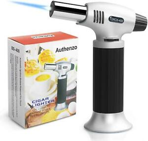 Butane Torch Culinary Torch Refillable Kitchen Lighter for Desserts