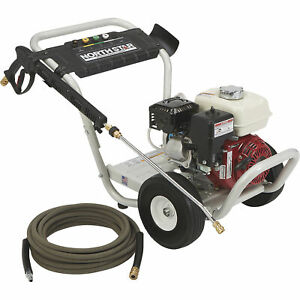 NorthStar Gas Cold Water Pressure Washer - 3300 PSI 2.5 GPM Aircraft-Grade