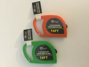 2pc 10ft CARABINER TAPE MEASURE ASSORTED COLOR $4.99