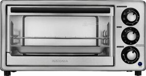 Insignia™ - 4-Slice Toaster Oven - Stainless Steel