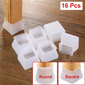 16PCS/Set Furniture Leg Protection Cover Silicone Table Chair Foot Round Cover
