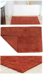 Solid Reversible Bath Mat Rug Brick (Orange) 22'' W x 35'' L by Yorkshire Home