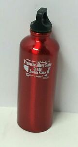 RED STAINLESS STEEL WATER BOTTLE WITH