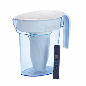 ZeroWater ZP-006-4, 6 Cup Water Filter Pitcher with Water Quality Meter,White