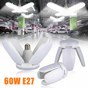 60W 5400lm E27 LED Garage Shop Work Lights Home Ceiling Fixture Deformable Lamp