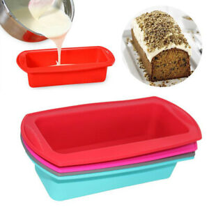 Silicone Bread Loaf Cake Mold Non Stick Bakeware Pan Oven Rectangle Mould Baking