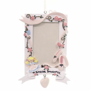Personalized Ornaments SPECIAL DAUGHTER FRAME Resin   Doll OR345