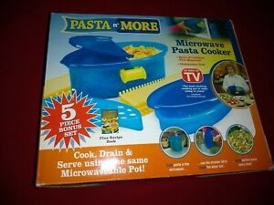 Pasta N#x27; More Microwave Pasta Cooker 5 Piece Bonus Set AS SEEN ON TV
