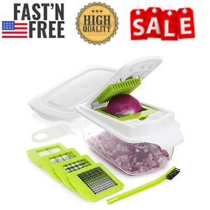 Onion Chopper Pro Vegetable Slicer Dicer Cutter Heavier Duty With 4 Blades NEW