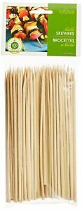 Fox Run 6 Inch Skewers Bamboo Shish Kebob BBQ Grilling Sticks Meats