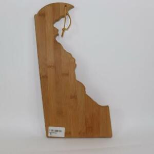 Totally Bamboo Delaware State Shaped Cutting & Serving Board