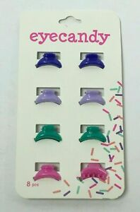 EYECANDY SMALL HAIR CLIPS 8CT (4 DIFFERENT COLORS) FREE SHIPPING
