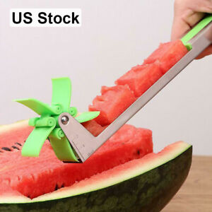 1x 2x 5x Watermelon Slicer Windmill Shape Cutter Stainless Steel Cutting Tools