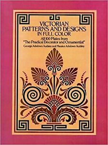 Victorian Patterns and Designs in Full Color Dover Pictorial Archive Paper... $13.94