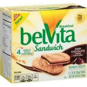Belvita Breakfast Biscuits, Sandwich, Dark Chocolate Creme
