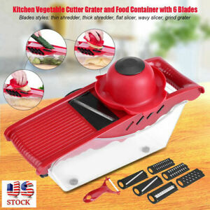 Manual Vegetable Chopper Dicer Mandoline Slicer Food Chopper Vegetable Slicer US