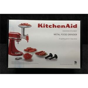 Kitchen Aid KSMMGA Metal Food Grinder Attachment Kit for Stand Mixers