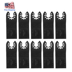 10pcs 35mm Multi Tool Saw Blade High Carbon Steel Blade For Dewalt Porter Black