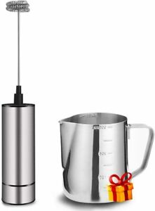Milk Frother Handheld Electric, Coffee Frother for Milk Foaming, Latte/