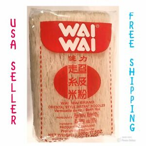 THAI NOODLE WAI WAI RICE VERMICELLI 500 G. Imports From Thailand.