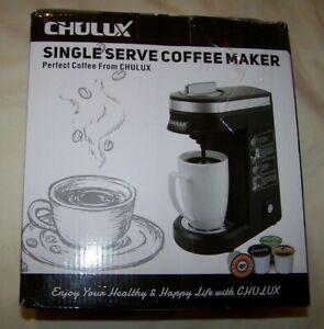 CHULUX Single Serve Coffee Maker QF-CM801 Fits Keurig  NEW Open Damaged Box