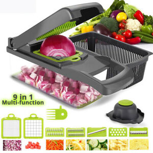 9 In 1 Vegetable Chopper & Cutter Mandoline Slicer vegetable grater kitchen tool