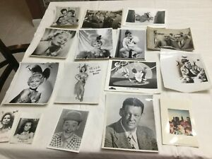 Vintage Lot of B W Celebrity and Movie Stills 8x10 16 photos