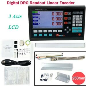 NEW 3 Axis Digital Measuring System,DB9 TTL Digital Readout for Lathe/Milling