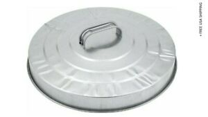 Behrens Galvanized Steel Garbage Can Lid 38113 New & Open/Damaged Packing