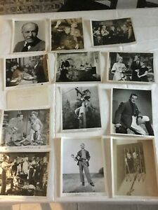 Vintage Lot of B W Celebrity and Movie Stills 8x10 12 photos