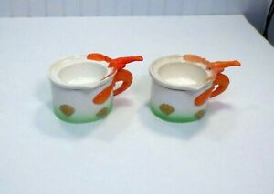 PAIR Of Vintage Ceramic Lobster Handle & Clam Shell Butter Warmer Dishes 2 Piece