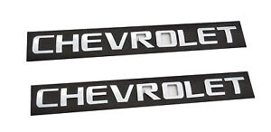 2x Chrome Chevrolet Emblems 3D Tailgate Letter Badges 2500HD Sierra SILVERADO